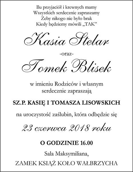 Zaproszenia ślubne Decorispl